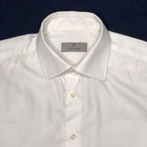 Canali Semi Spread Collar Oxford Dress Shirt